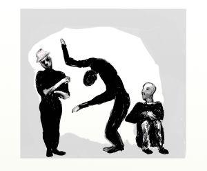 Man dance 8 x 10 lwneds
