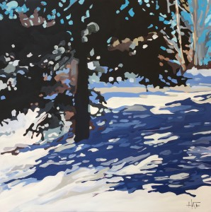 Blue Spruce on Hill