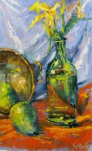 Brass Bowl, Pears