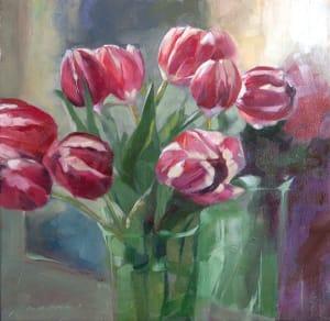 Reflected Tulips