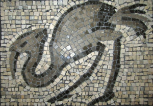 Mosaic bird i0mrjq