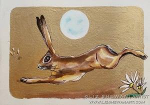 Leaping hare liz shewan artist 2017 wcgvuy