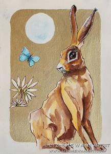 Sitting hare liz shewan artist 2017 studio lnryjg