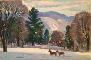 Deer i n Snow - Gifford Beal