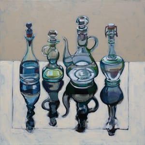 Four Italian Oil Bottles