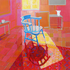 Christine webb studio corner 1 acrylic on canvas 91x91cm e eylmlv