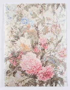 Kirstin lamb pink floral 2017 gouache on duralar 19 x 24 in pcojg8
