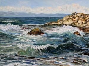 Catching Waves at Georgina Point Mayne Island BC