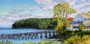 Early spring morning at the miners bay 12 x 24 inch oil on canvas may 17 2017 img 5440 sjnlcz