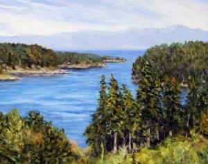 Felix Jack View of Active Pass Mayne Island BC