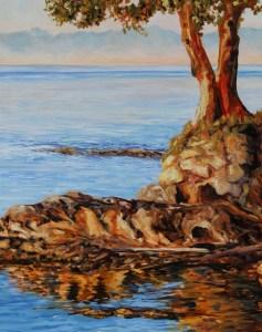 Just Before Sunset Mayne Island BC