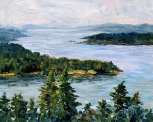 The bluffs galiano island 8 x 10 inch acrylic plein air sketch by terrill welch june 3 2017 img 5443 bf94qa