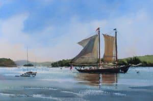 The J & E Riggin Sets Sail