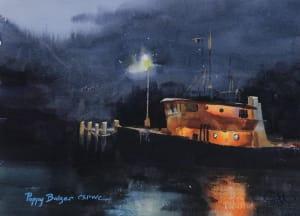 Tugboat at Night