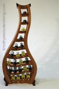 """""""Tipsy"""" wine rack"""