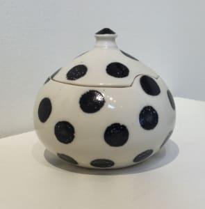 Lidded Pot - polka dots