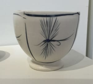 Cup with flies