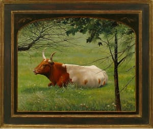 """Pastoral Longhorn"" with Rett Ashby Frame"