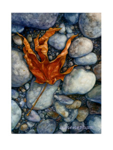 Aa red maple leaf on beach i1wmw0