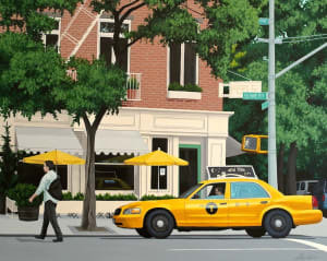 Yellow Cab on Bowery, NYC