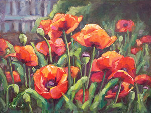 Hasson krista poppies 18x24 eo8c2p
