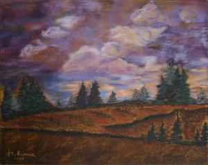 """Evergreens Under Sky"""
