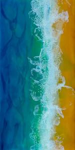 Wilson where the sand meets the sea  10 encaustic 6x12  200 j3fnrp