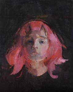 Amyhuddleston pinkwig 2015 oilcanvasboard 11x14 1200 tgcxla