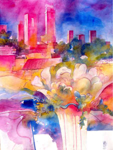 San Gimignano full bloom