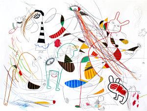 Contemporary art drawing paper ssbdrq