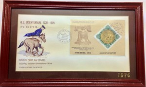 U.S Bicentennial 1776 - 1976 Gold Coin Issued First Day Cover
