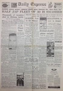 Daily express newspaper 1942