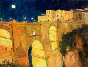 Nightfall on Ronda Bridge