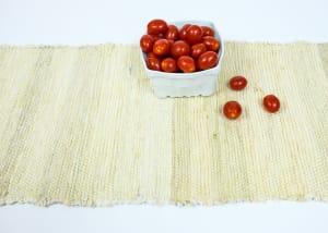 Stevie cream recycled silk table runner