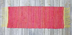 Stevie red recycled silk table runner