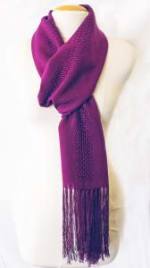 Claudette hand woven orchid purple scarf