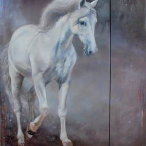 Celeste Gadjal portrait III - Diptych