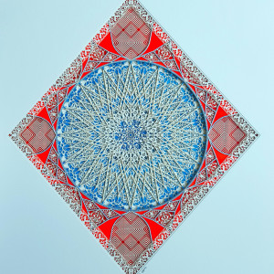 Untitled study emam in cerulean   45cm x 60cm   julia ibbini tsxskr