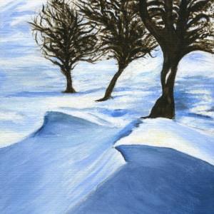 Smucha winter sun acrylic 10x8 final wfdzjf