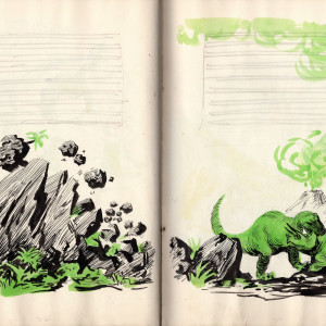 The Rise and Fall of the Dinosaurs - Preliminary Drawings