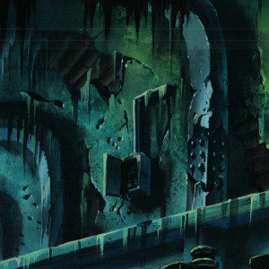 TMNT - Background Concept - Subway Tunnel