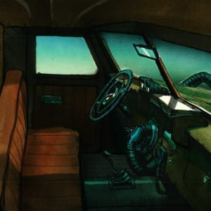 Cadillacs and Dinosaurs - Background Concept - Truck Interior