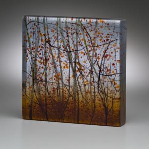 Angelita surmon dusk shades 2018 kiln forme glass 6x6x1.25 inches  550