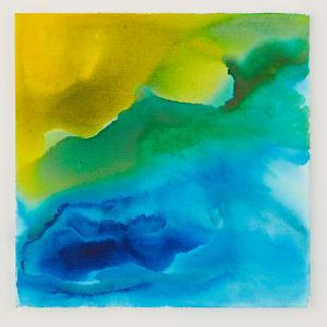 Blue green wash iii 18 x 18 acrylic on canvas 2017 sv7bps