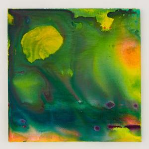 Blue green wash ii 18 x 18 acrylic on canvas 2017 qcgo2q