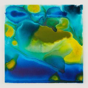 Blue green wash i 18 x 18 acrylic on canvas 2017 ghwtt3