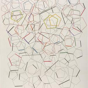 1 m a giovanetti pentagonos 15 lapiz y lapiz col or sobre tela 190 x 150 cm izlviu