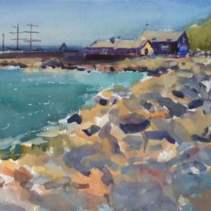 2018 art painting watercolor seascape plein air by kate kos   courtown copy xv1yol