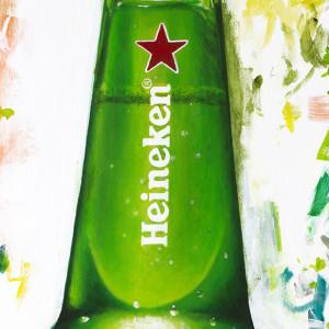 Heineken Mardi Gras Campaign Creative - Light Bottle