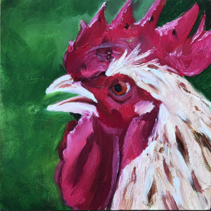 3  30in30paintingchallenge cock of the walk for the web styitc